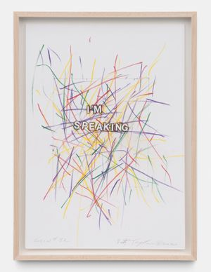 Scrawl #32 by Betty Tompkins contemporary artwork drawing