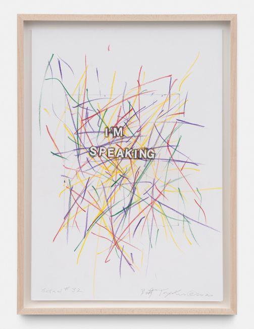 Scrawl #32 by Betty Tompkins contemporary artwork