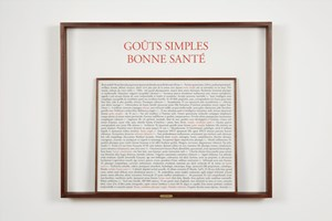 Goûts simples by Sophie Calle contemporary artwork