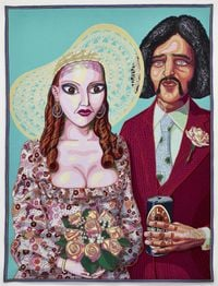Julie and Dave by Grayson Perry contemporary artwork textile