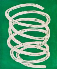 Green doodle by Claudia Terstappen contemporary artwork sculpture