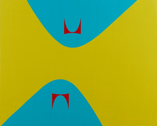 Lissitzky Curves & Herman Miller 2  利西茨基曲线&赫尔曼·米勒 2 by David Diao contemporary artwork