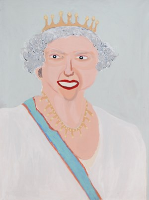 The Queen by Vincent Namatjira contemporary artwork
