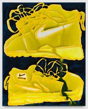 Yellow by Katherine Bernhardt contemporary artwork