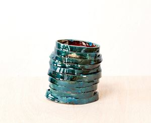 Blue_petrol tower by Claudia Terstappen contemporary artwork