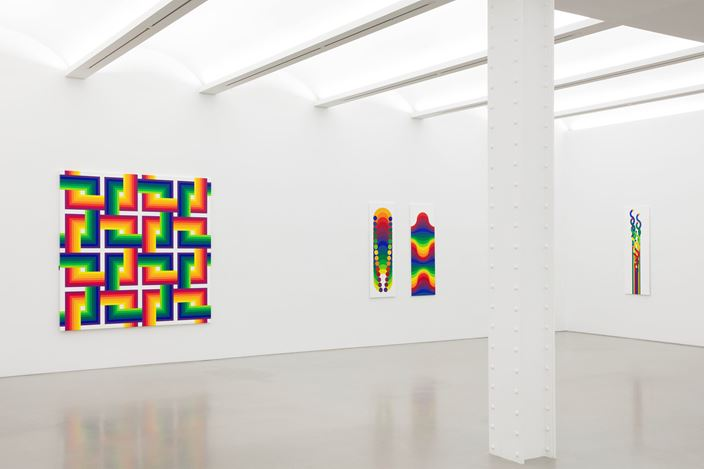 Exhibition view: Julio Le Parc,Color and Colors, Perrotin, New York (29 October–24 December 2020). © Julio Le Parc / ADAGP, Paris & ARS, New York 2020. Courtesy the artist and Perrotin.Photo: Guillaume Ziccarelli.