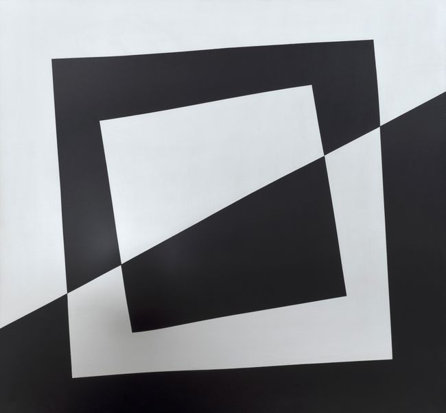 Bianco e Nero by Agostino Bonalumi contemporary artwork