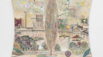 Contemporary art exhibition, Merlin James, Window at Kerlin Gallery, Dublin, Ireland