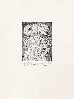 Vieil innocent by Pierre Alechinsky contemporary artwork print