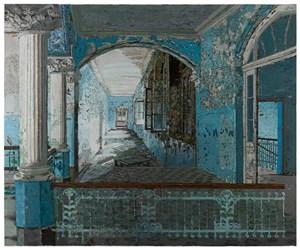 Blue X by Yuan Yuan contemporary artwork