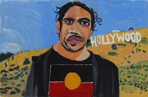 Self Portrait (Hollywood Hills) by Vincent Namatjira contemporary artwork