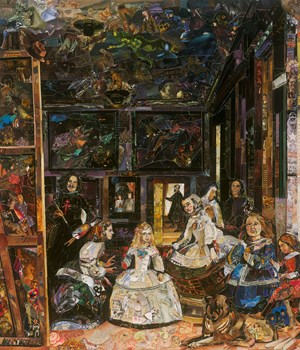 The Prado Museum (Las Meninas, after Diego Rodríguez de Silva y Velázquez) (Repro) by Vik Muniz contemporary artwork