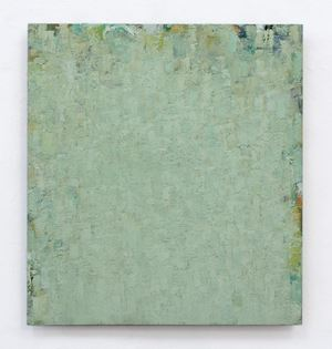 grün ocker grün by Peter Tollens contemporary artwork