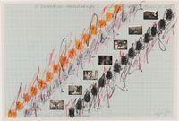 Desenho - Espaços Imantados, Registro Cinematográfico (Drawing - Magnetized Spaces, Cinematographic Study) by Lygia Pape contemporary artwork works on paper, drawing