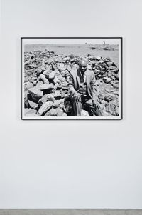 Luke Kgatitsoe in his house, bulldozed in February 1984 by the government after the forced removal of the people of Magopa, a black-owned farm, which had been declared a black spot, Ventersdorp district, Transvaal. 21 October 1986 by David Goldblatt contemporary artwork print