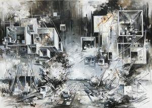 Utopia XXII by Inna Artemova contemporary artwork painting