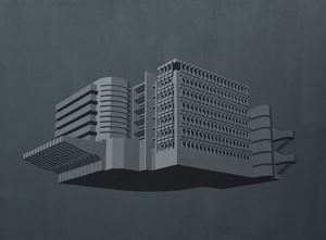 Modernist Facades for New Nations (Proposition 2) by Sahil Naik contemporary artwork