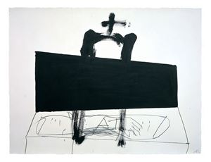 Quadrilàter negre / Black square by Antoni Tàpies contemporary artwork painting, works on paper, drawing