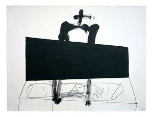 Quadrilàter negre / Black square by Antoni Tàpies contemporary artwork