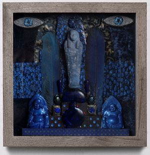 Legends in Blue by Betye Saar contemporary artwork