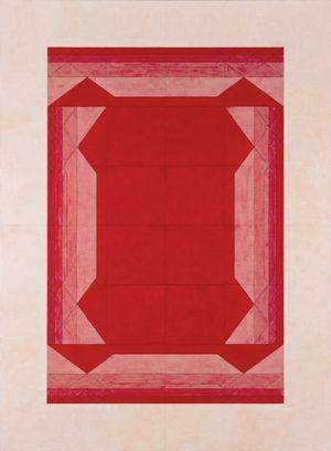 4 Middle Bracket Bridges Outward in Red 《4邊完美括號橋向外紅色》 by Inga Svala Thórsdóttir & Wu Shanzhuan contemporary artwork painting