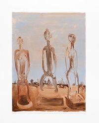 Kopano Kwa Ile Ife (Meeting at Ile Ife) by Phoka Nyokong contemporary artwork painting, works on paper