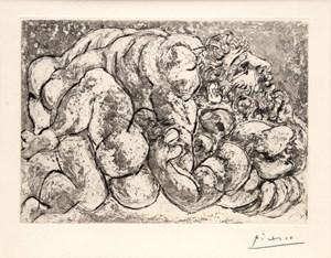 Le viol IV by Pablo Picasso contemporary artwork