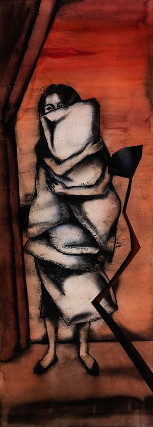 Pillow Bearer by Anju Dodiya contemporary artwork painting, works on paper, drawing