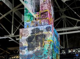 Zhang Enli. Colourful Tower, The Bridge 8, Shanghai, 2017