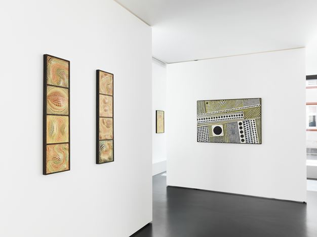 Exhibition view: Minoru Onoda, Maru, Anne Mosseri-Marlio Galerie, Basel (9 June–14 July 2017). Courtesy Anne Mosseri-Marlio Galerie.