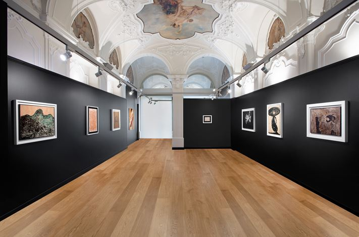 Exhibition view: Lucio Fontana | Enrico Baj | Piero Manzoni, Mazzoleni, Turin (15 October–19 December 2020). Courtesy: Mazzoleni, London-Torino.