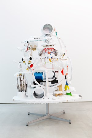 White Discharge (Built-up Objects) #48 by Teppei Kaneuji contemporary artwork