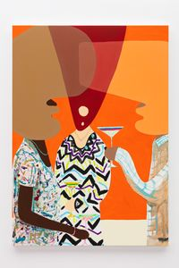 Cocktail (Orange) by Peter McDonald contemporary artwork painting