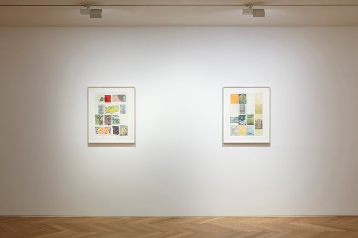Exhibition view: Robert Rauschenberg,Against the Grid: Drawings, 1983, Pace Gallery, Seoul (19 September–16 November 2019). Courtesy Pace Gallery.