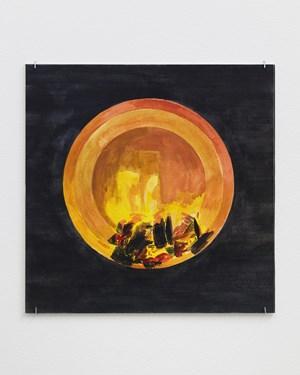 Fire Circle by Oscar Tuazon contemporary artwork