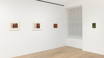 Contemporary art exhibition, Suzan Frecon, watercolors and small oil paintings at David Zwirner, London