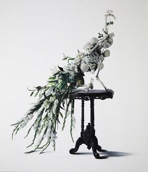 White Peacock by Michael Zavros contemporary artwork