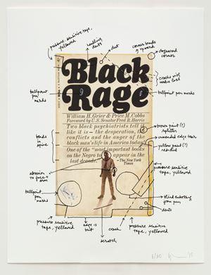 Black Rage by Glenn Ligon contemporary artwork