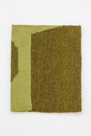 Lichen-dyed yellow-green, light yellow-green by Helen Mirra contemporary artwork