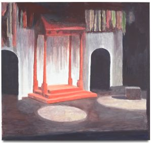 The Stage by Luc Tuymans contemporary artwork