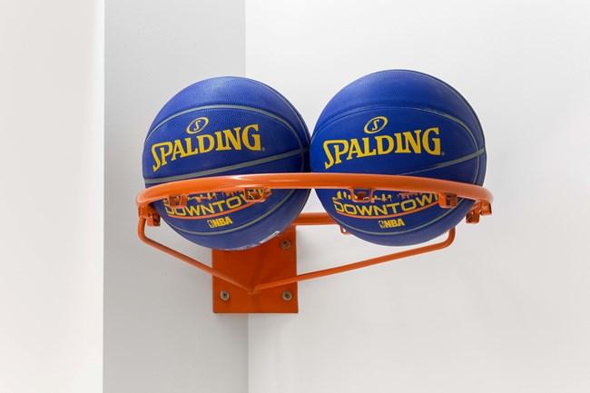 Two Basket Balls by Zhou Wendou contemporary artwork