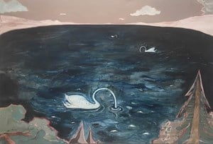 The Swan Lake by Zhao Yang contemporary artwork