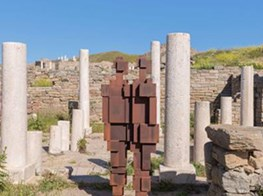 Antony Gormley's haunting sculptures on the Greek island of Delos
