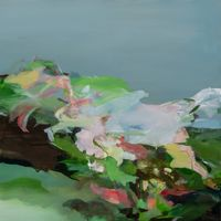 early morning dew by Hollis Heichemer contemporary artwork painting