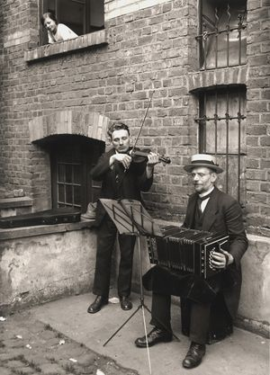 Street Musicians (VI/36/4,') 4/12 of 1990, 1922–1928 by August Sander contemporary artwork