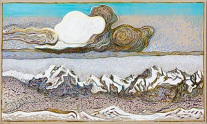 the great cloud (after Segantini) by Billy Childish contemporary artwork