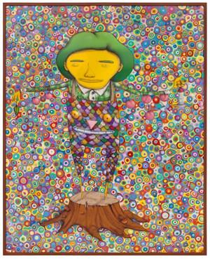 Meu Pé de Laranja Lima (My Lima Orange Tree) by OSGEMEOS contemporary artwork