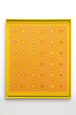 Orange rain by Alberto Biasi contemporary artwork