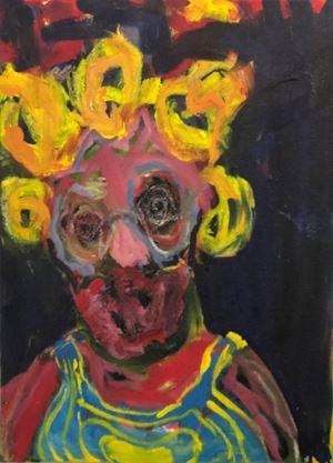 A Glimpse of Society IV by Nyasha Marovatsanga contemporary artwork