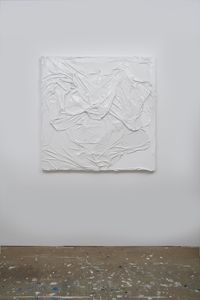 Untitled (White on White #8) by Huseyin Sami contemporary artwork painting